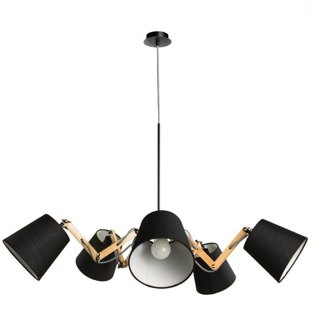 Подвесной светильник Arte Lamp A5700LM-5BK, E14, 40 Вт