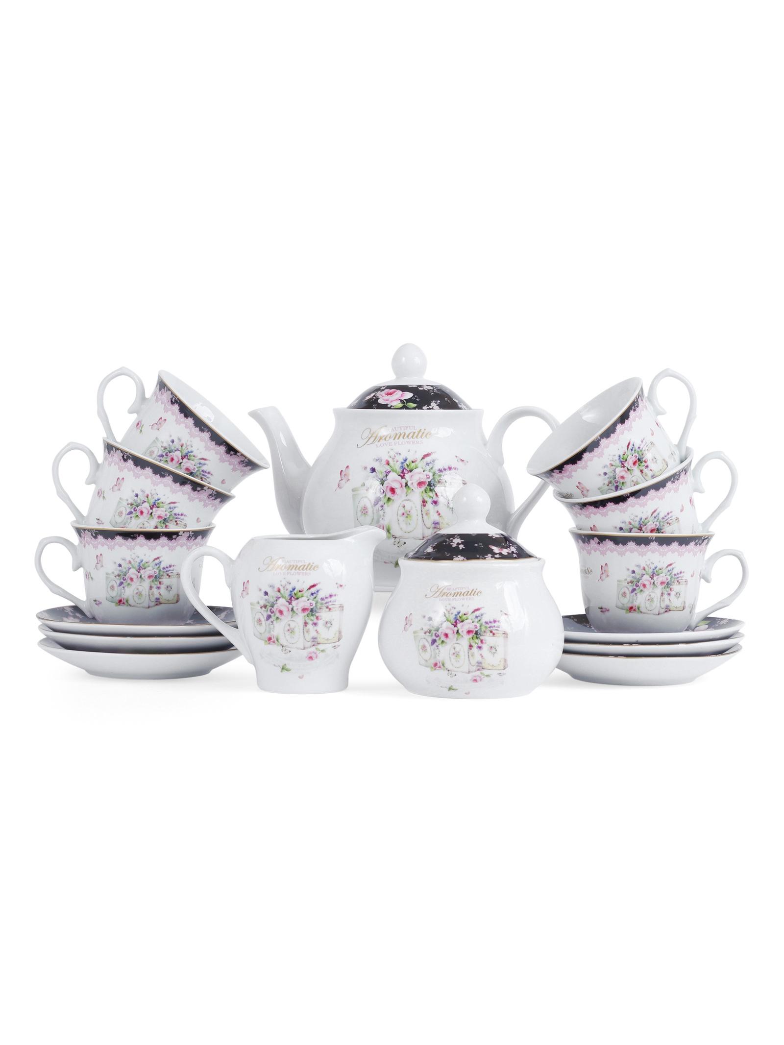 Набор чайный JEWEL Пандора 15 предметов (фарфор), 4 шт/уп