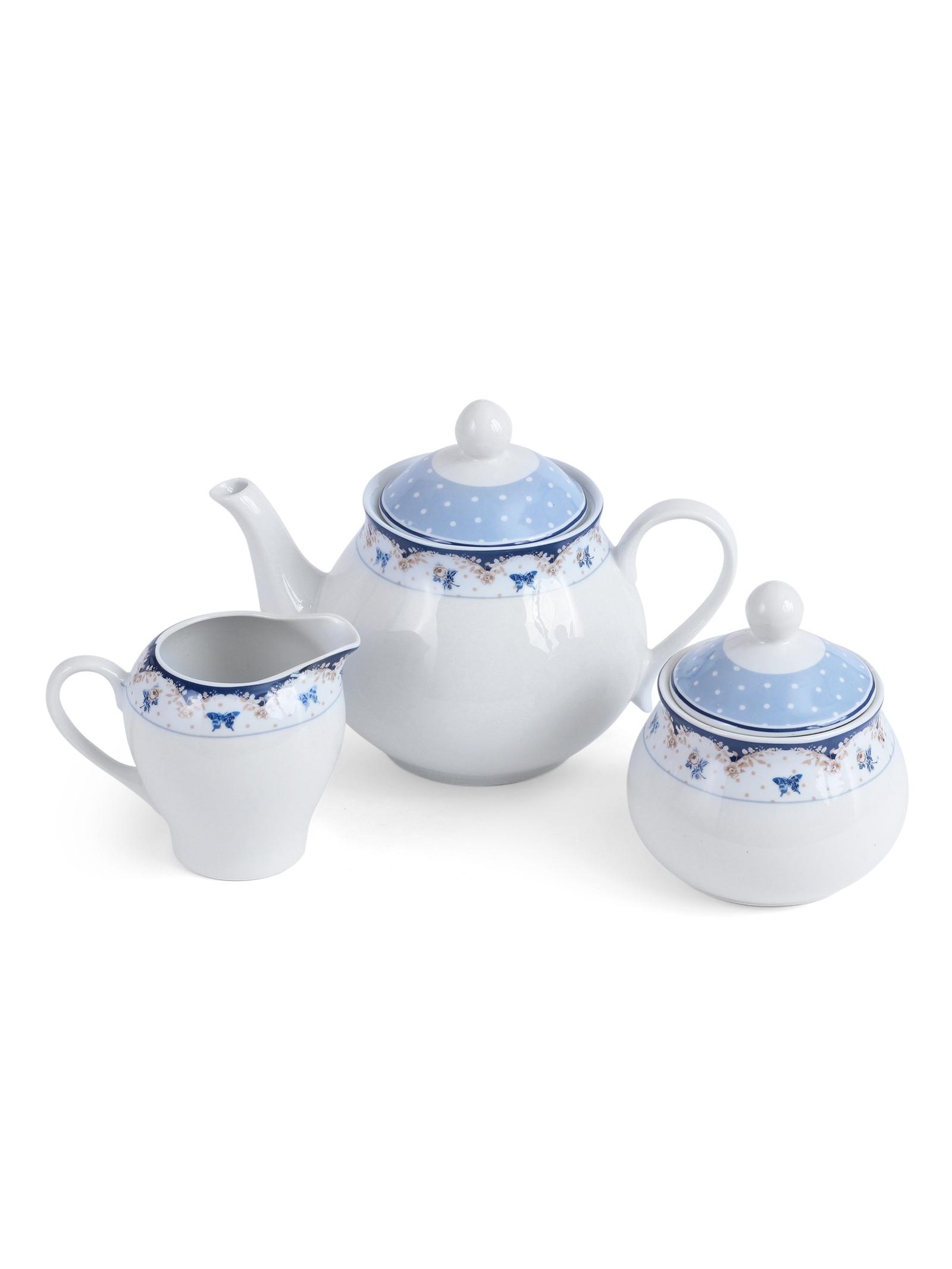Набор чайный JEWEL Мариэтта 15 предметов (фарфор), 4 шт/уп nouvelle набор чашек кошки 230 мл