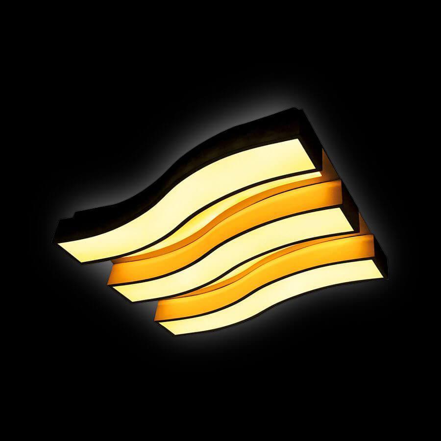 Потолочный светильник Ambrella light FP2423 WH 90W+48W D690*500, LED, 138 Вт