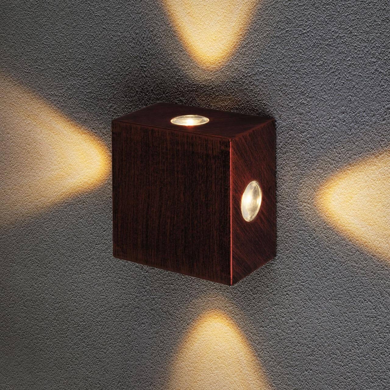 Уличный светильник Elektrostandard 4690389116407, LED уличный настенный светодиодный светильник elektrostandard 1605 techno led sokar графит 4690389086038
