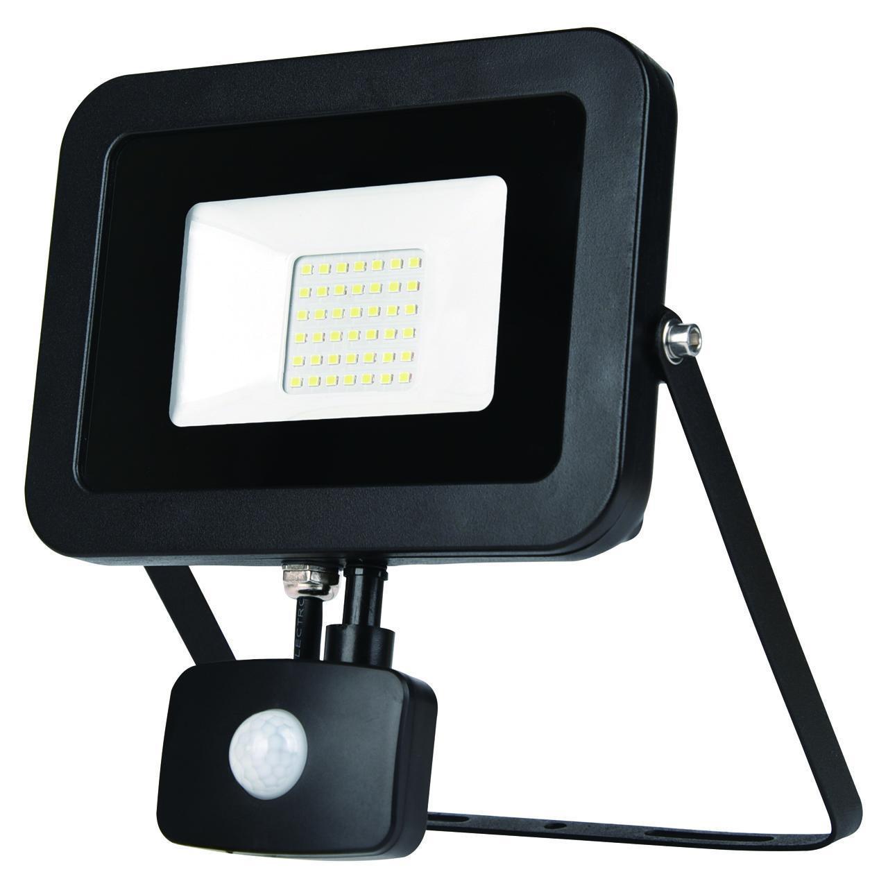 Прожектор Эра LPR-50-2700K-M-SEN SMD Eco Slim, 50 Вт прожектор светодиодный эра lpr 50 4000к м smd 8 96