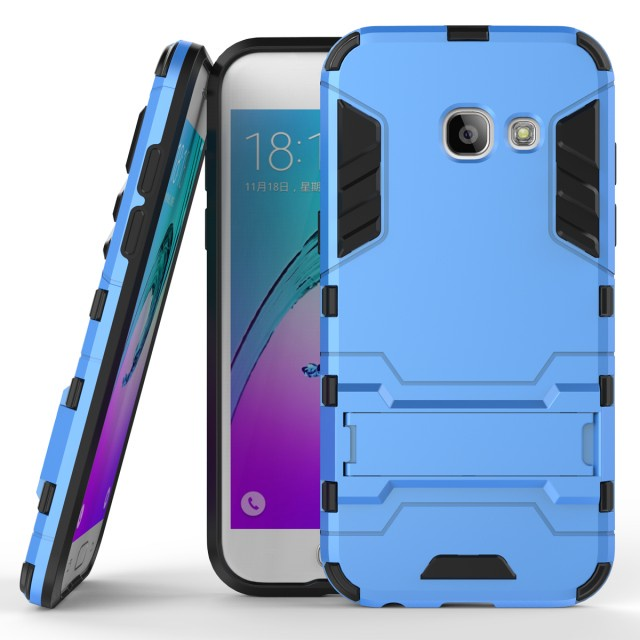 Чехол MyPads для Samsung Galaxy A3 (2017) Противоударный усиленный ударопрочный синий золотой slim robot armor kickstand ударопрочный жесткий корпус из прочной резины для samsung galaxy a3 2017 a320