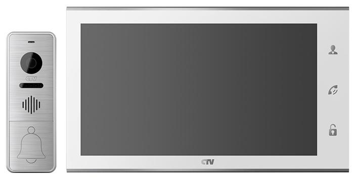 Комплект видеодомофона CTV-DP4105AHD, белый комплект видеодомофона commax cdv 71am с вызывной панели avр 508 монитор 7 1 дюйм
