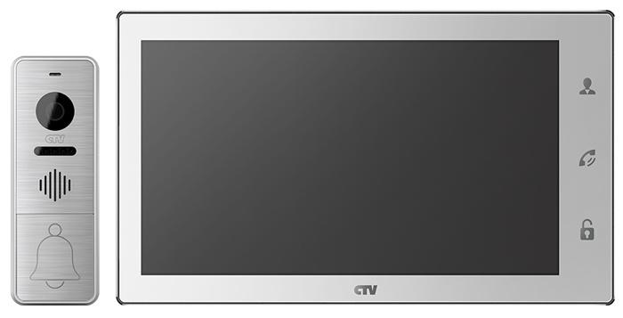 Комплект видеодомофона CTV-DP4106AHD, белый комплект видеодомофона commax cdv 71am с вызывной панели avр 508 монитор 7 1 дюйм