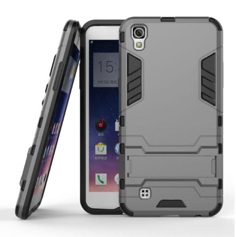 Чехол MyPads для LG X Power K220DS Противоударный усиленный ударопрочный серый