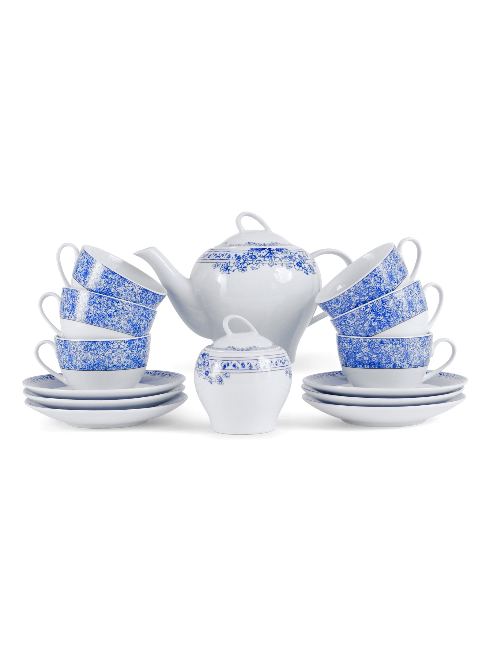 Набор чайный JEWEL Танриз синий 14 предметов (фарфор), 2 шт/уп набор чайный 12 пр синий павлин 250 мл под уп 968992 page 2