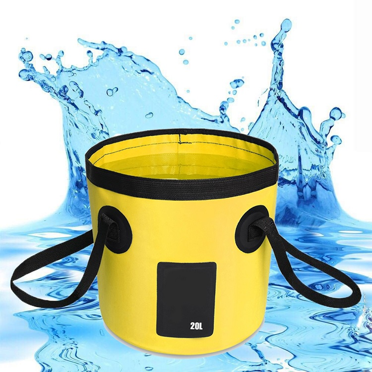 Складное ведро, 20л, желтое, 30х12х1 см ведро складное acecamp transparent folding bucket
