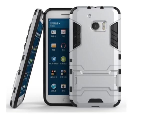 Чехол MyPads для HTC 10 Противоударный усиленный ударопрочный серебристый
