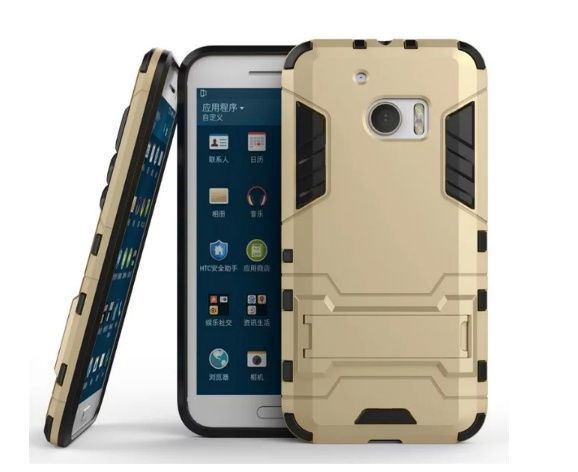 Чехол MyPads для HTC 10 Противоударный усиленный ударопрочный золотой