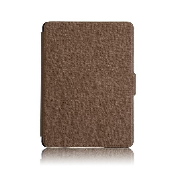 Чехол-обложка GoodChoice Ultraslim для Amazon Kindle 8 (коричневый) кейс для назначение amazon kindle fire hd 8 7th generation 2017 release бумажник для карт кошелек со стендом с узором авто режим сна