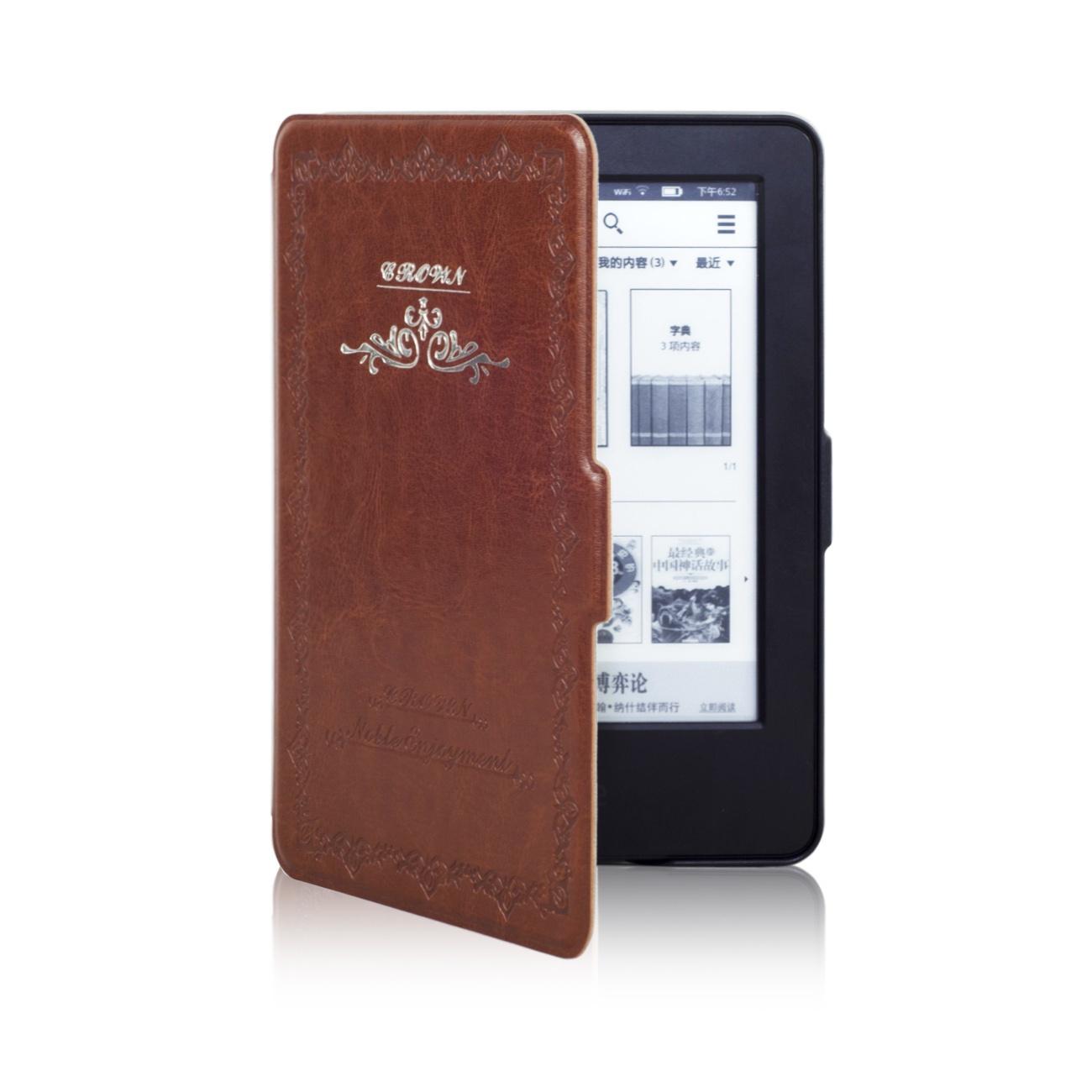 Чехол-обложка GoodChoice Vintage для Amazon Kindle 8 (коричневый) кейс для назначение amazon kindle fire hd 8 7th generation 2017 release бумажник для карт кошелек со стендом с узором авто режим сна