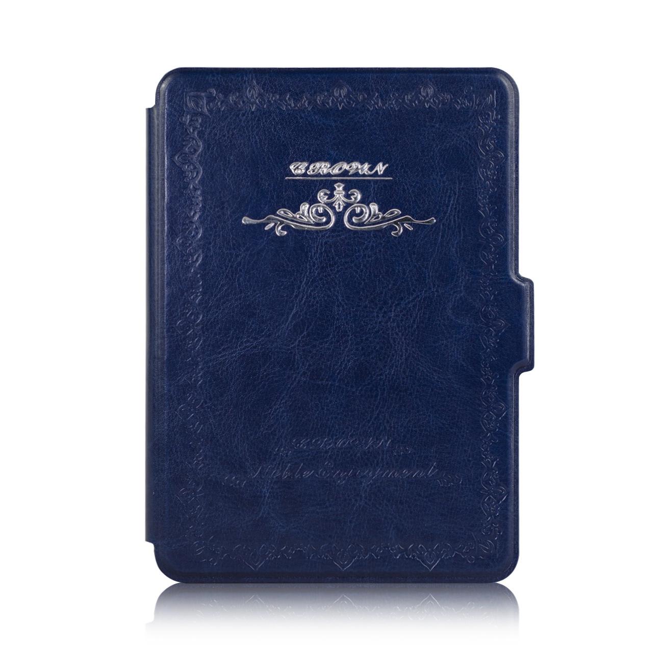 Чехол-обложка GoodChoice Vintage для Amazon Kindle 8 (темно-синий) кейс для назначение amazon kindle fire hd 8 7th generation 2017 release бумажник для карт кошелек со стендом с узором авто режим сна