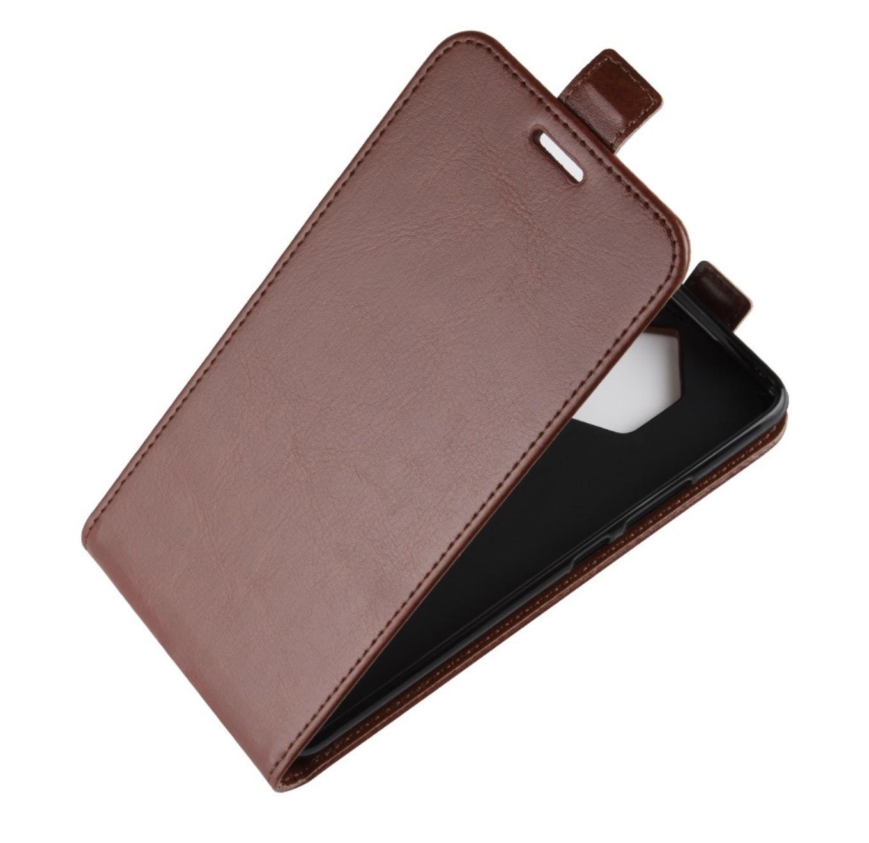 Чехол-флип MyPads для Sony Xperia XZ1 Compact вертикальный откидной коричневый