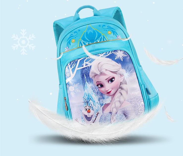 Рюкзак школьный для девочки-Frozen, Холодное Сердце, голубой