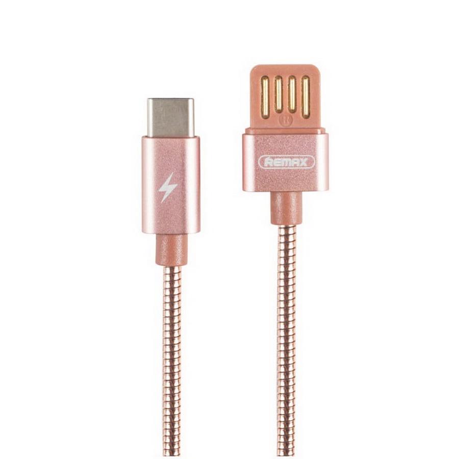 Фото - Кабель Remax Silver Serpent RC-080a Type C/USB, розовый автодержатель remax rc fc1 с кабелем type c black