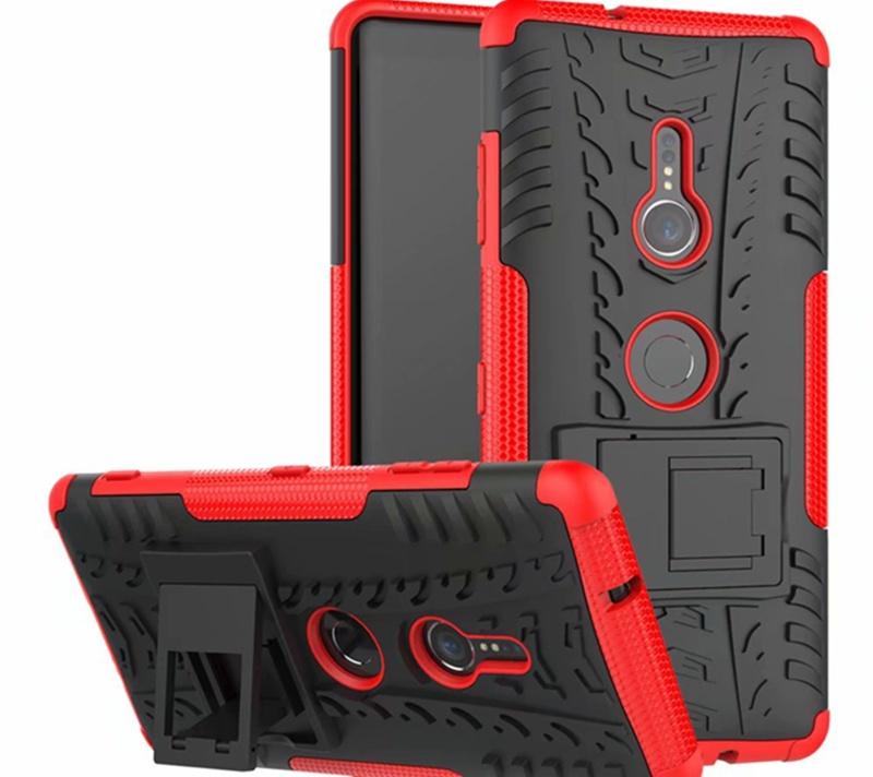 Чехол MyPads для Sony Xperia XZ3 Противоударный усиленный ударопрочный красный