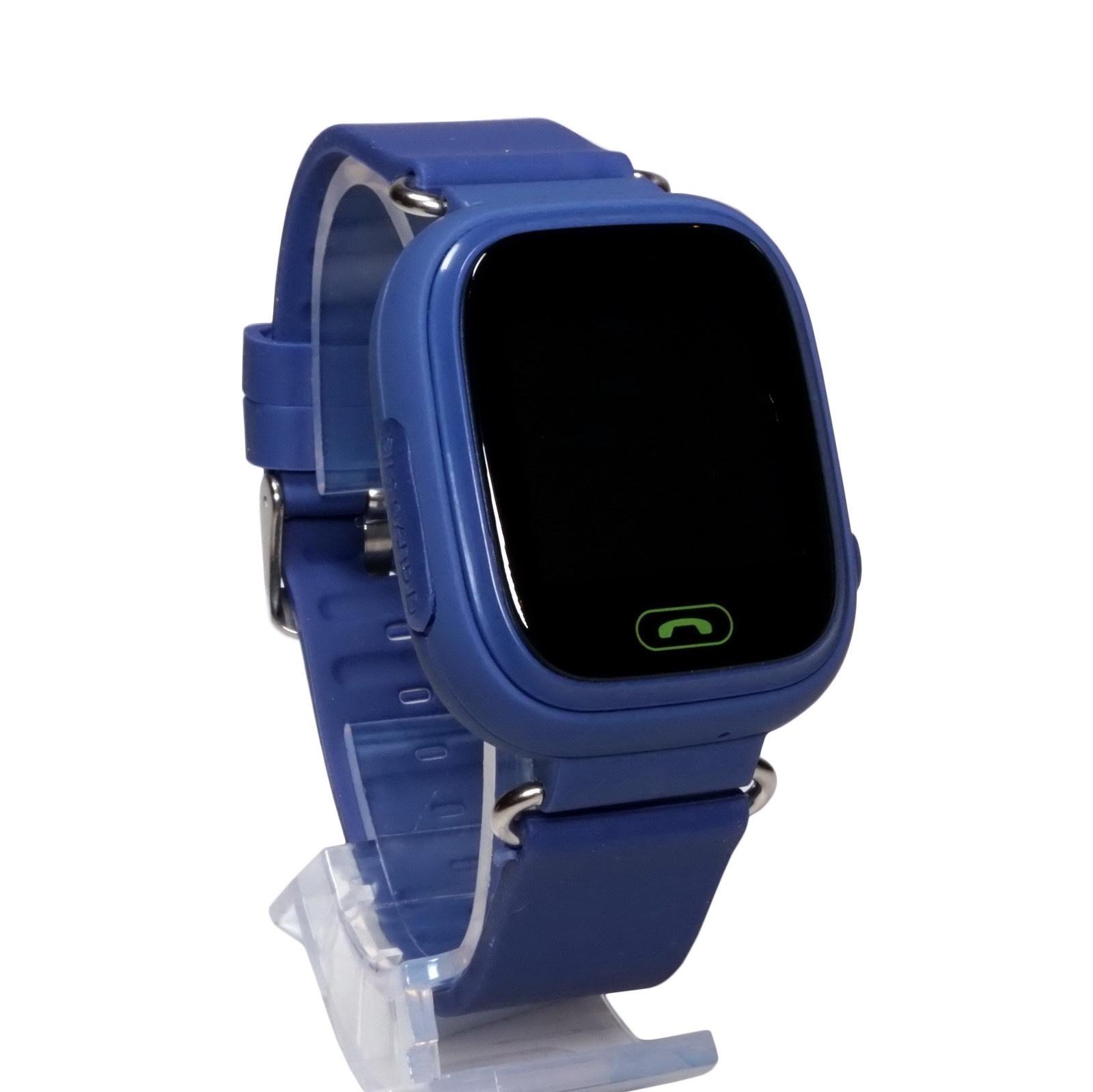 Часы Smart Baby Watch Q90 с сенсорным экраном - Синие q100 q750 smart watch phone baby children kids gps tracker 1 54 touch screen wifi location sos anti lost device safe pk q50 q90