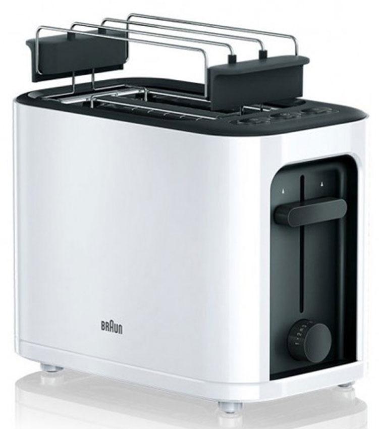 лучшая цена Тостер Braun HT3010, белый, черный