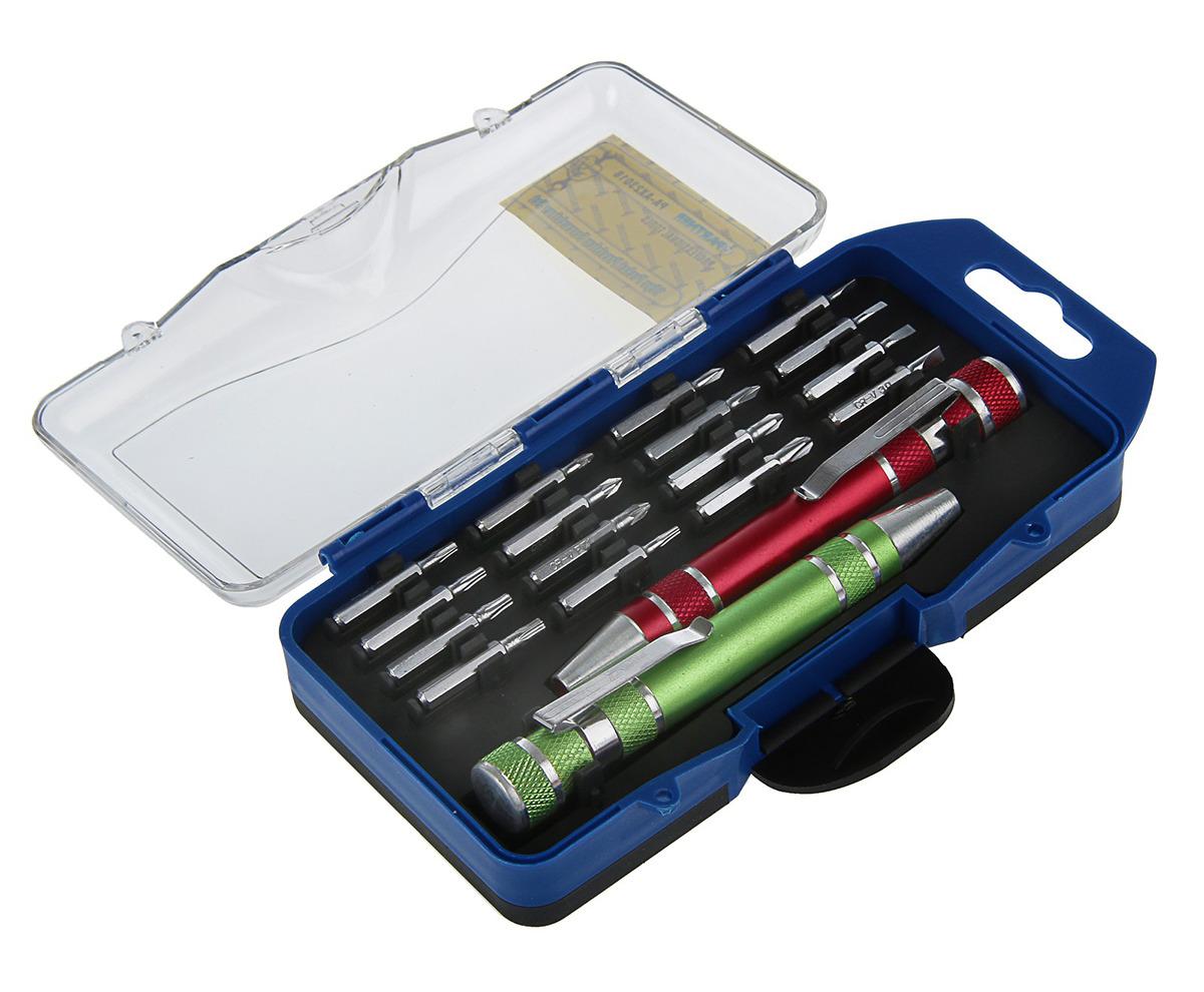 Набор отверток Partner, с битами, в кейсе, PA-AX23018, 18 предметов набор инструмента partner pa 509lb