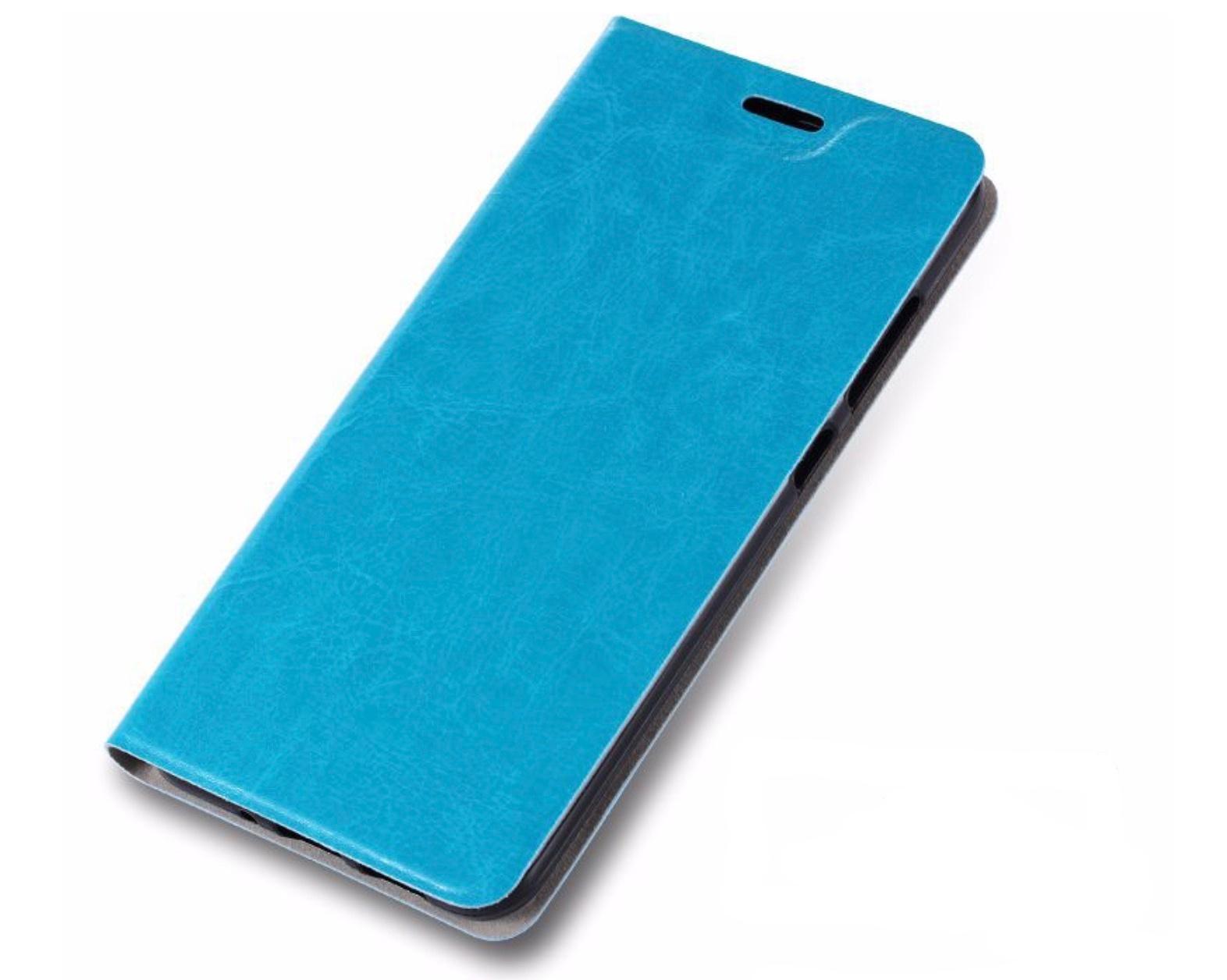 Чехол-книжка MyPads для Microsoft Lumia 640 XL на жёсткой металлической основе бирюзовый цена и фото