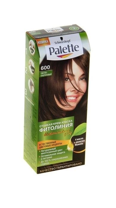 Краска для волос Palette Фитолиния 600 Светло-каштановый, 50 мл color mask краска для волос оттенок 600 светло каштановый 145 мл