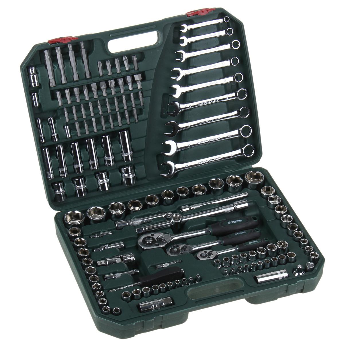 Набор инструментов Tundra Premium, универсальный, в кейсе, 881895, 136 предметов плитка облицовочная cersanit blackstone черный 250х350х7 мм 16 шт 1 4 кв м