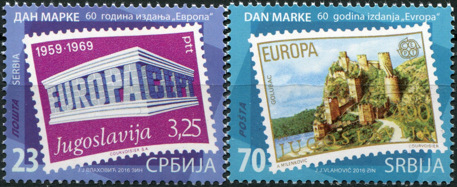 Сербия. 2016. 60 лет совместного выпуска марок EUROPA (Серия. MNH OG)