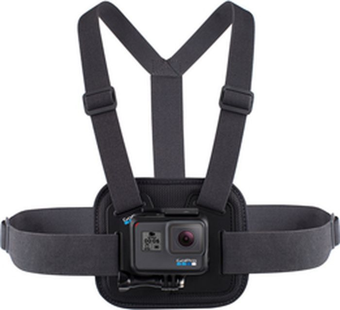 Крепление для фото/видео GoPro AGCHM-001, на грудь, черный аксессуар крепление на грудь gopro chest agchm 001