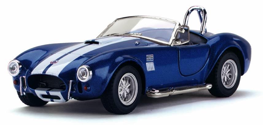 Машинка металлическая с открывающимися дверями, модель 1965 Shelby Cobra 427 S/C масштабная модель ac cobra