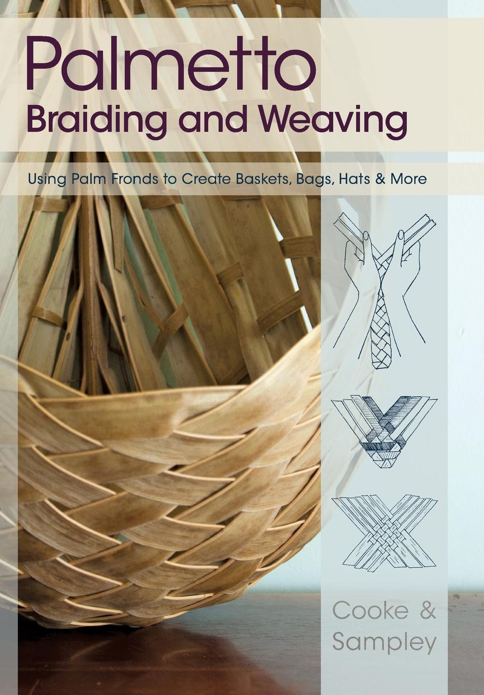 Viva Cooke, Julia Sampley Palmetto Braiding and Weaving. Using Palm Fronds to Create Baskets, Bags, Hats & More cute weaving and color block design tote bag for women