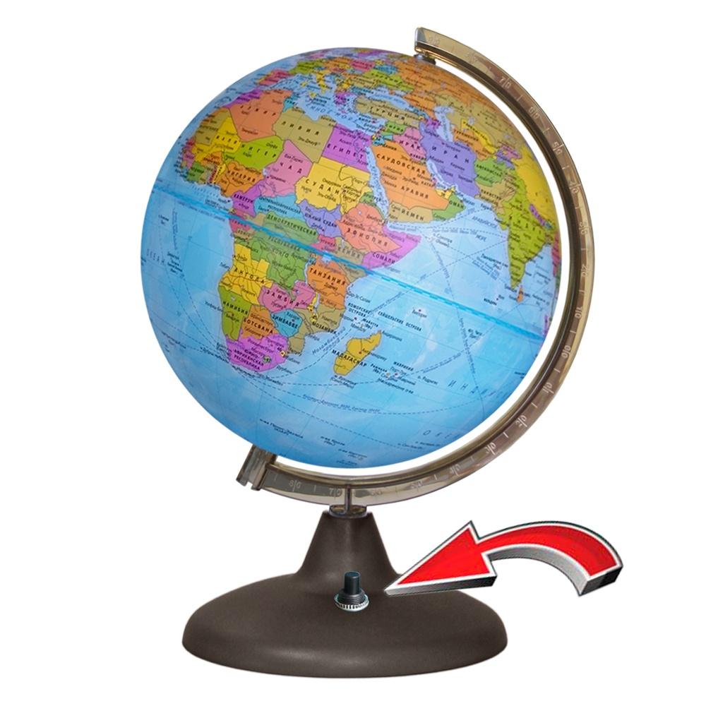 все цены на Глобусный мир Глобус с политической картой мира с подсветкой диаметр 21 см онлайн