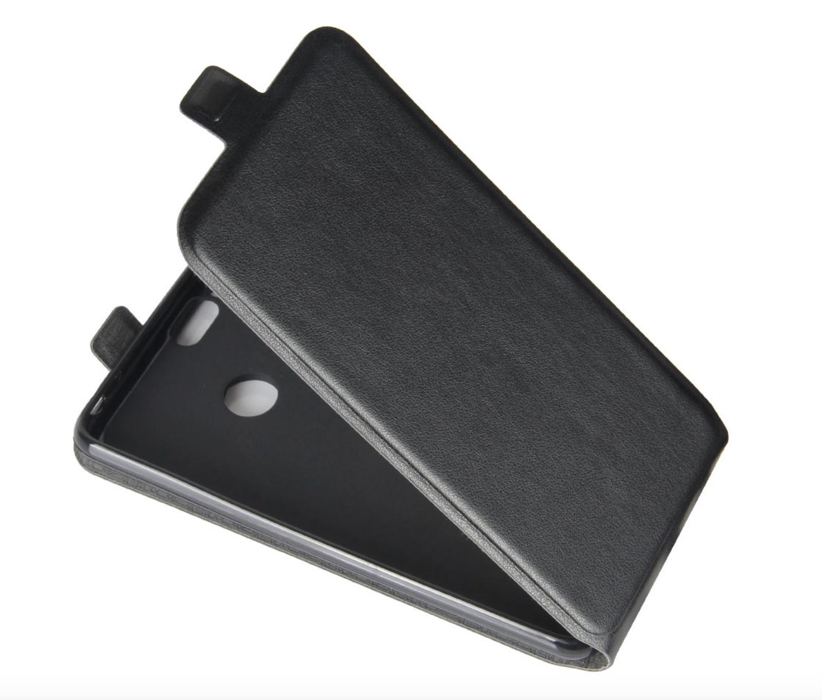 Чехол-флип MyPads для Samsung Galaxy S4 Mini вертикальный откидной черный