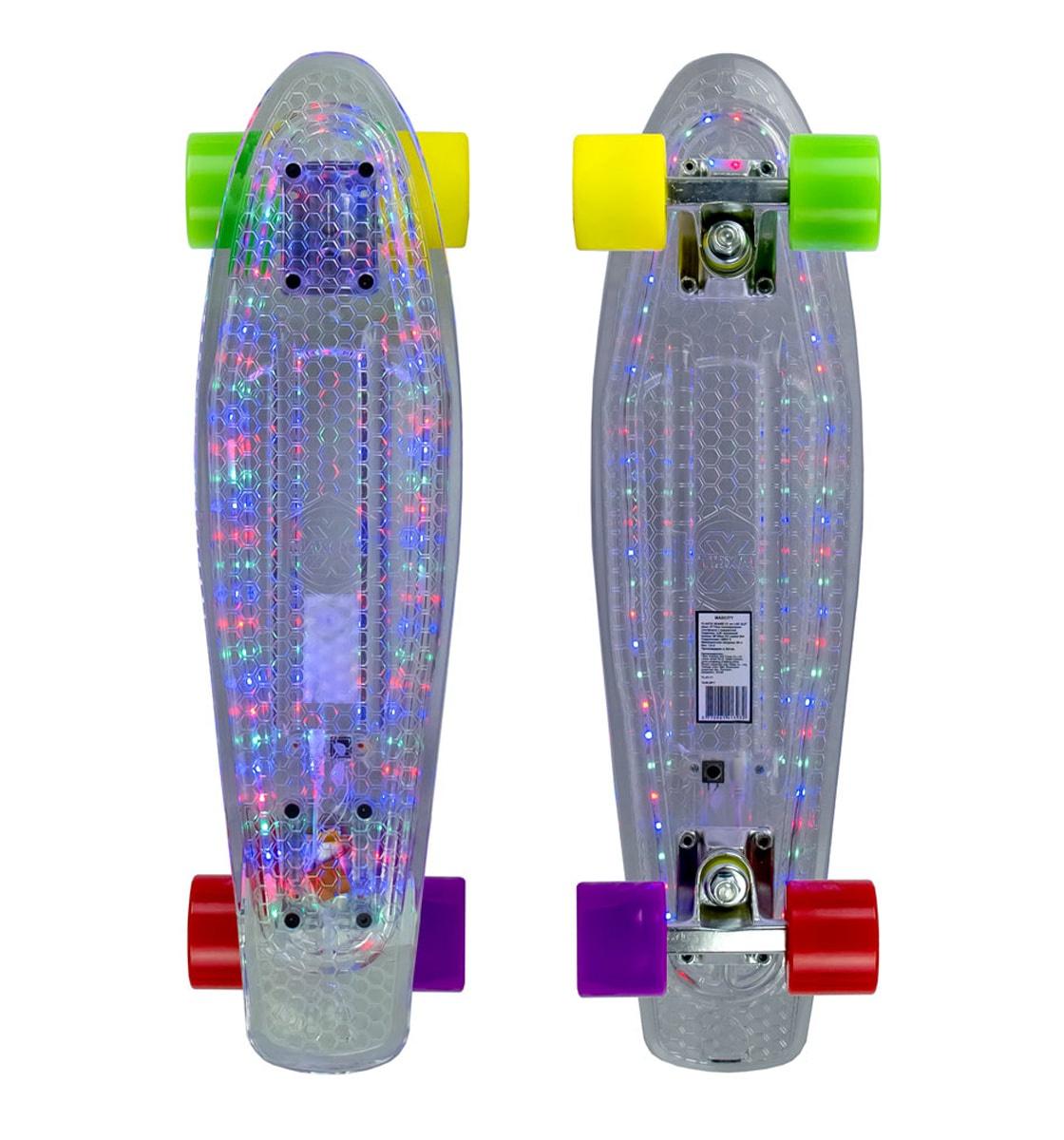 Круизер MaxCity Plastic Board X1 LED Small