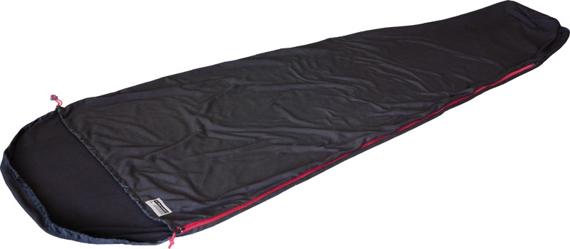 Вставка в мешок спальный HIGH PEAK Nanuk Inlett Mumie, чёрный, длина 220см