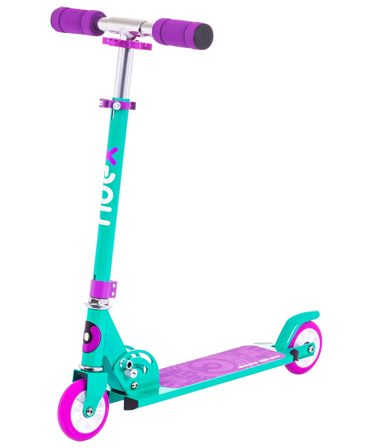 Самокат Ridex 2-колесный Sonic 100 мм, фиолетовый самокат ridex syndicate 2 колесный цвет красный
