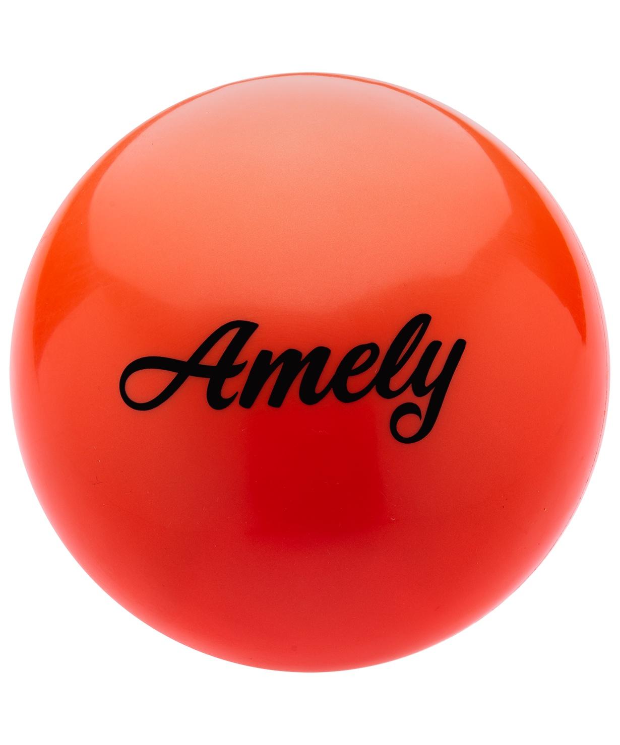 Мяч для художественной гимнастики Amely Agb-101, 15 см, оранжевый мяч для художественной гимнастики indigo силиконовый цвет фуксия диаметр 15 см