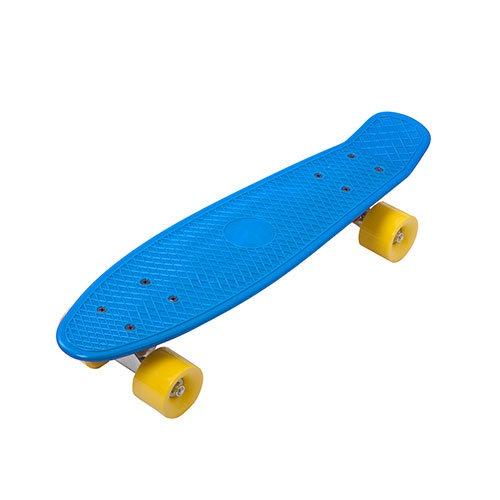 Скейтборд пластиковый Action PW-515 28x7,5 пенни борд раста