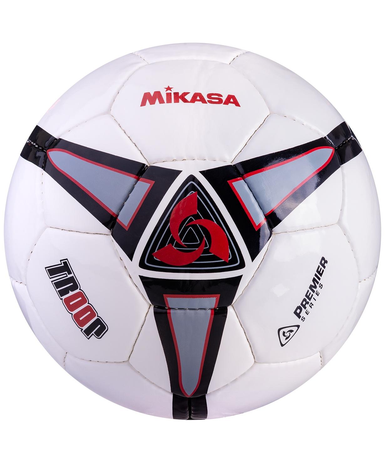 Мяч футбольный Mikasa TROOP5-BK р.5 мяч баскетбольный mikasa 1020 р 7 8 панелей