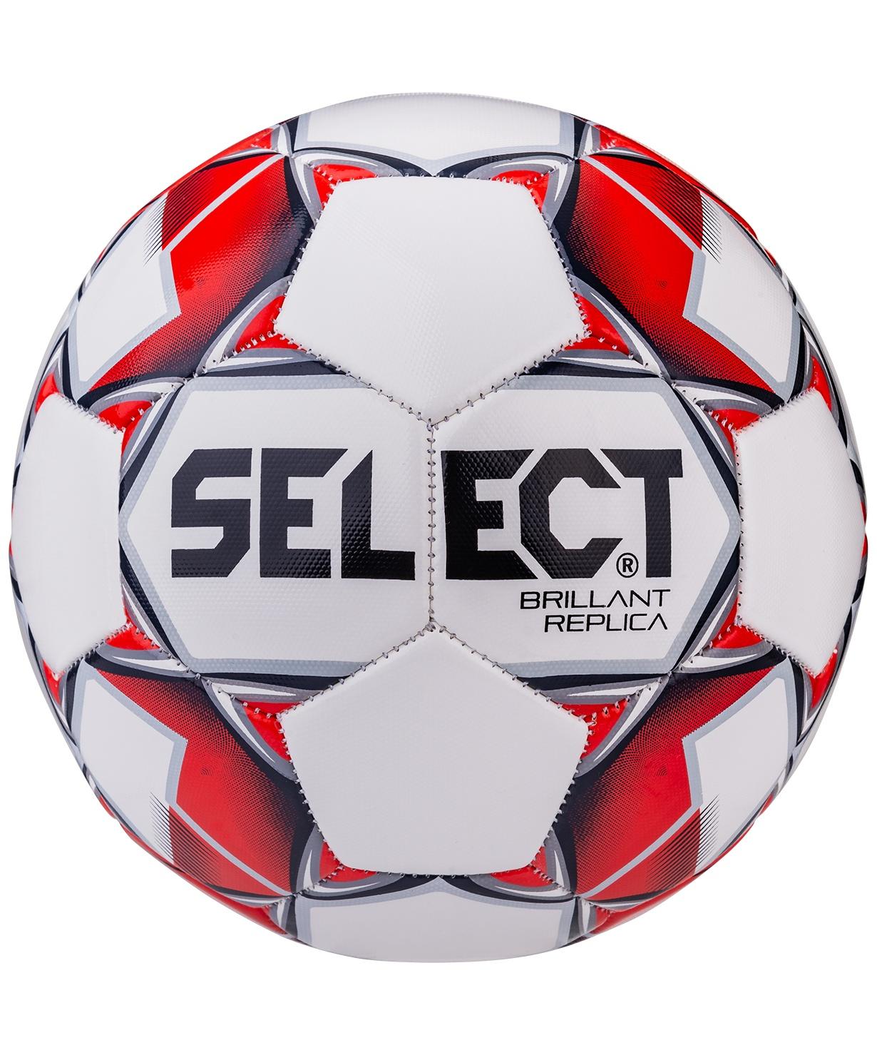 Мяч футбольный Select Brillant Replica, р.5 белый/красный/серый (5)
