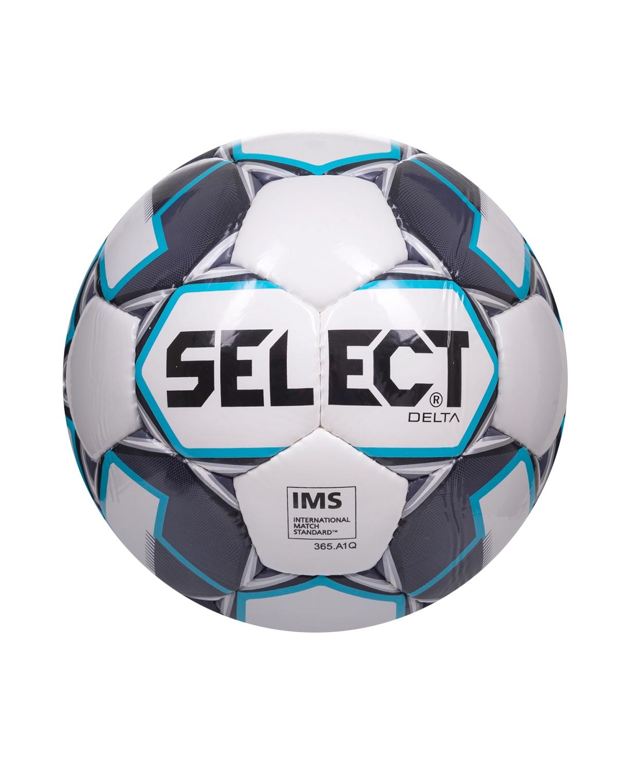 Мяч футбольный Select Delta IMS 815017, Размер 5, белый/темно-синий/голубой (5)