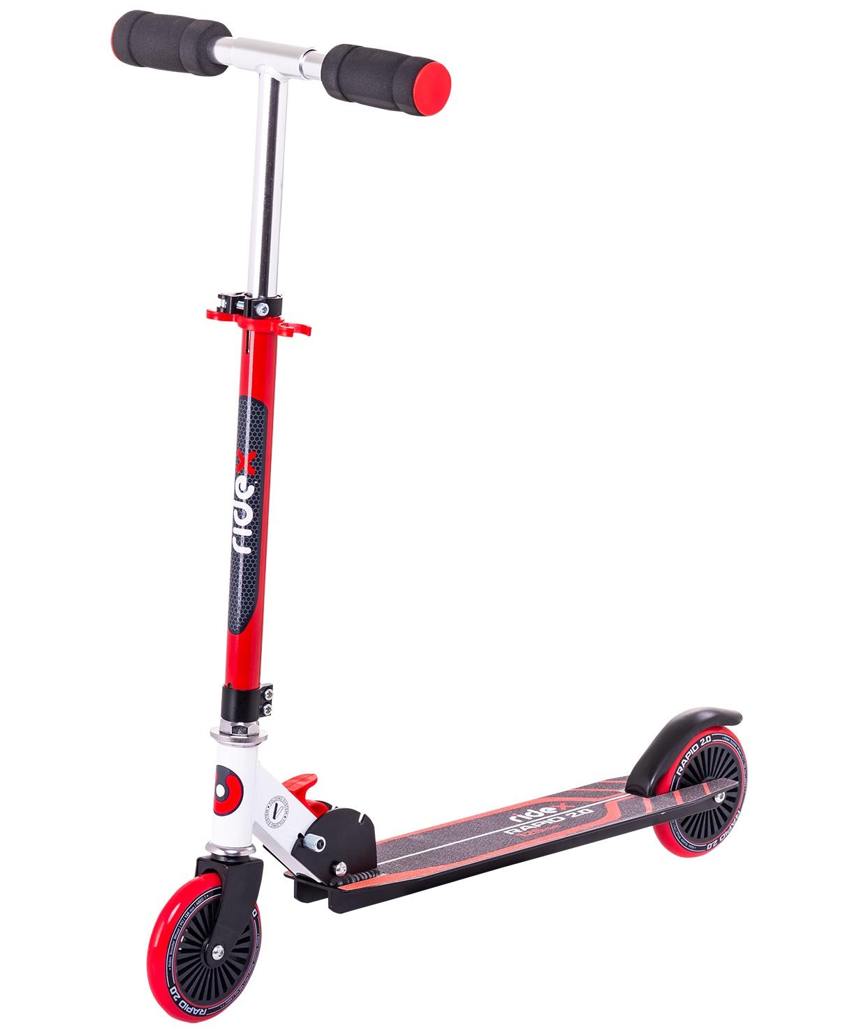 Самокат Ridex 2-колесный Rapid 2.0, 125 мм, красный самокат ridex syndicate 2 колесный цвет красный