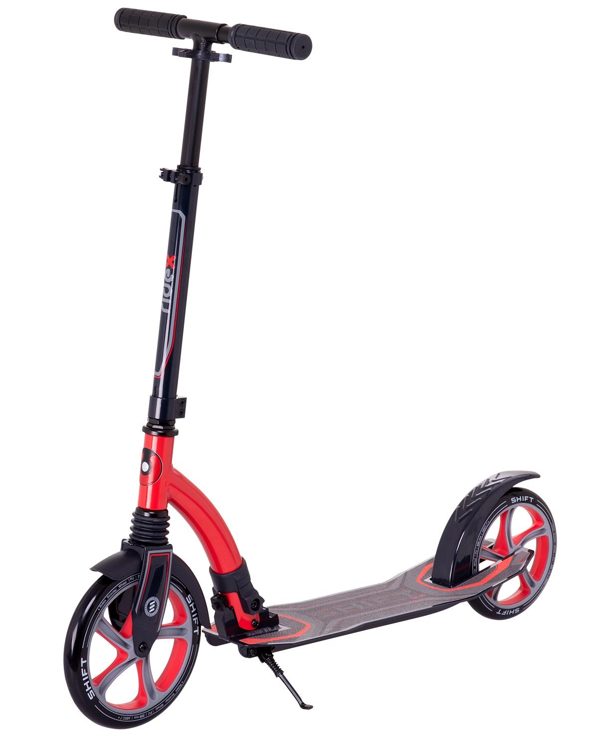 Самокат Ridex 2-колесный Shift 230/200 мм, красный самокат ridex syndicate 2 колесный цвет красный