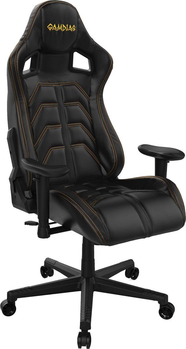 Игровое кресло Gamdias Ulisses MF1, черный, желтый компьютерное кресло gamdias ulisses mf1 black red gm gcumf1br