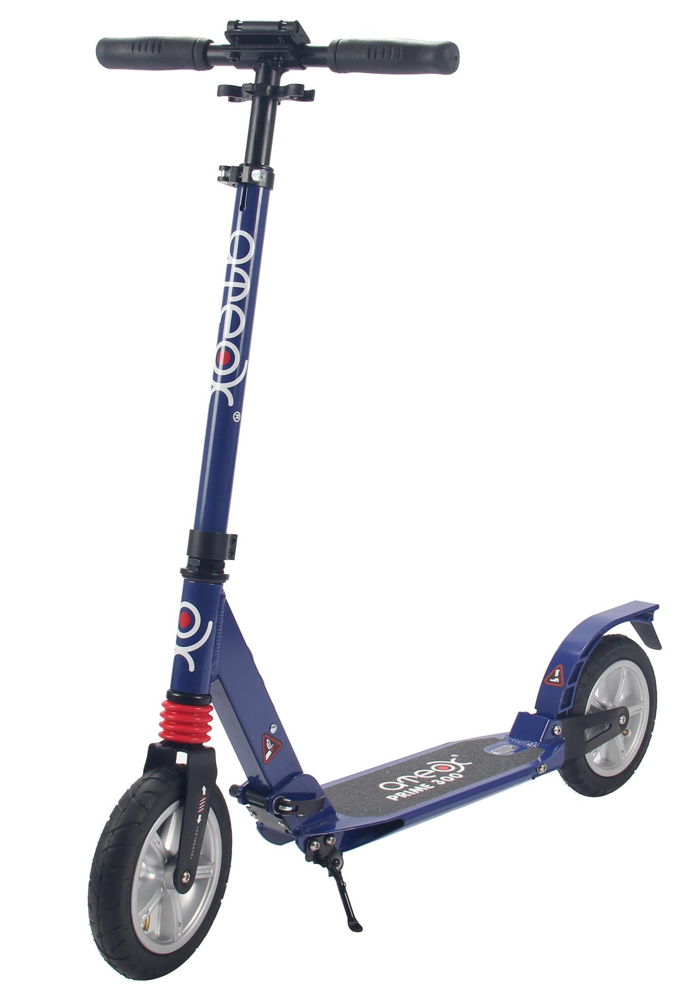 Самокат для взрослых Ateox PRIME 300 c надувными колесами (Синий)