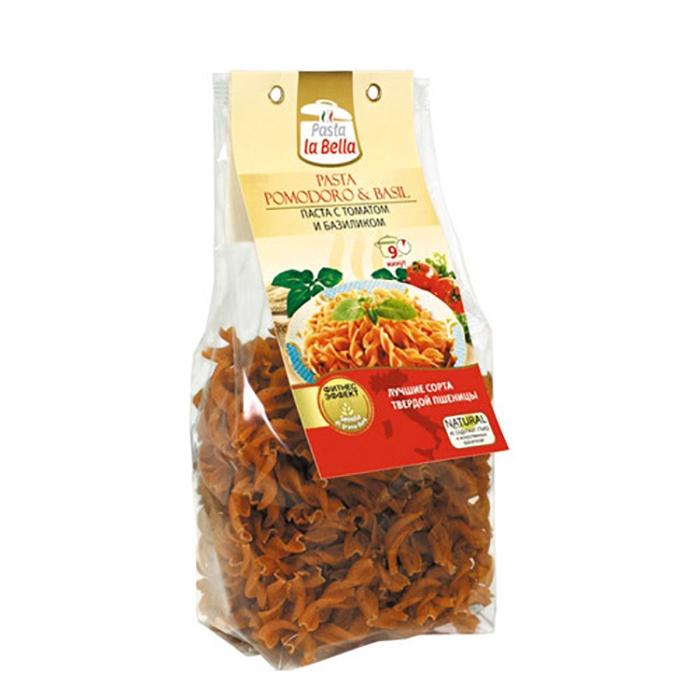Pasta la Bella Макароны с Томатом и Базиликом цена в Москве и Питере
