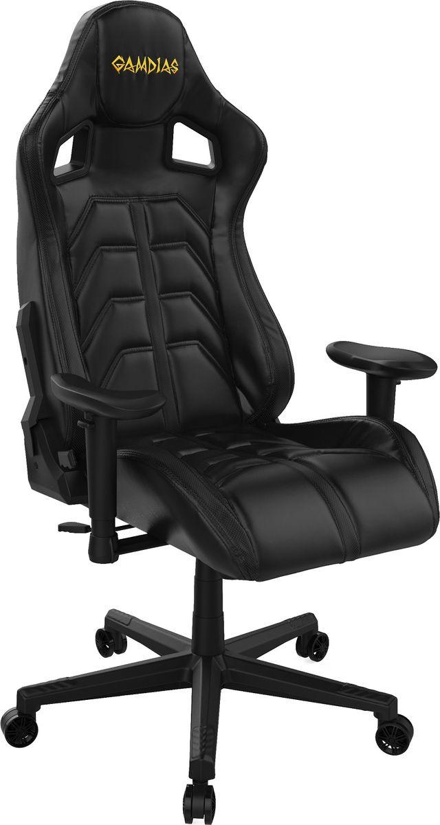 Игровое кресло Gamdias Ulisses MF1, черный кресло компьютерное gamdias ulisses mf1 black yellow