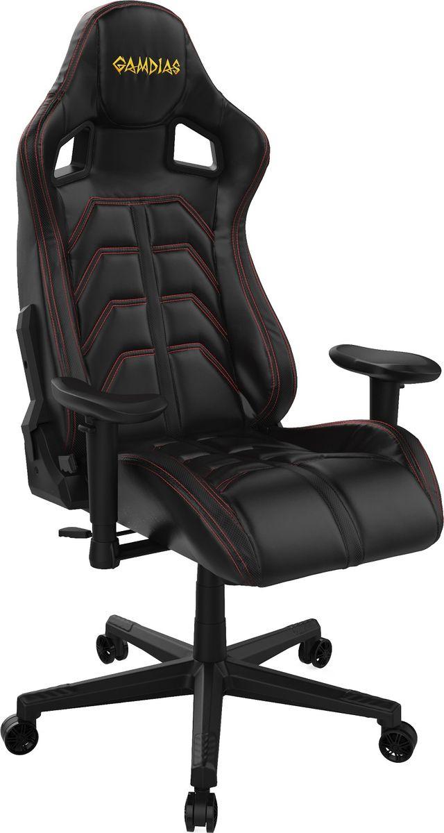 Игровое кресло Gamdias Ulisses MF1, черный, красный кресло компьютерное gamdias ulisses mf1 black yellow