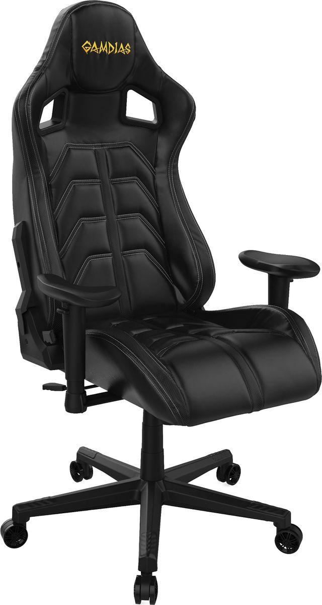 Игровое кресло Gamdias Ulisses MF1, черный, белый компьютерное кресло gamdias ulisses mf1 black red gm gcumf1br