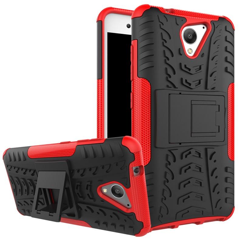 где купить Чехол MyPads для ZTE Blade A510 Противоударный усиленный ударопрочный красный дешево